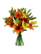 The Vibrant Asiatic Lily Bouquet